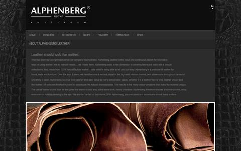Screenshot of About Page alphenberg.com - About Us - captured Oct. 29, 2014