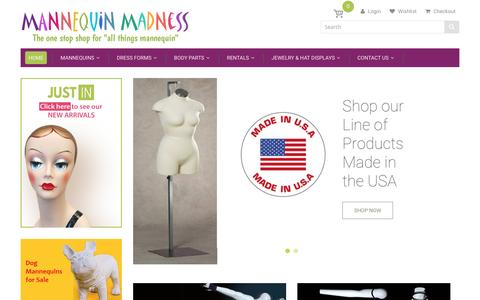 Screenshot of Home Page mannequinmadness.com - Mannequin Madness - captured May 27, 2017