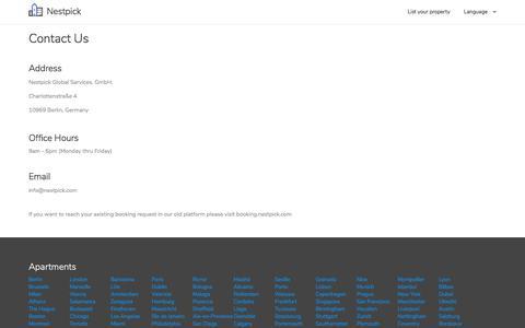 Screenshot of Contact Page nestpick.com - Contact Us | Nestpick - captured June 15, 2018