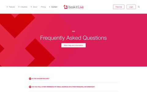 Screenshot of FAQ Page bookitlive.net - bookitLive onlne booking system: Frequently Asked Questions - captured Nov. 8, 2018