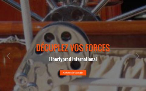 Screenshot of Home Page libertyprod.com - Création site internet Marseille, reportage vidéo Marseille » Libertyprod International - captured July 14, 2016