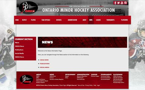 Screenshot of Press Page omha.net - News - captured Oct. 7, 2014