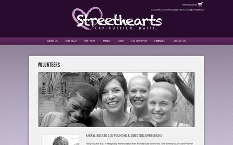 Screenshot of Team Page streetheartshaiti.org - Volunteers - Streethearts Haiti - captured Oct. 7, 2014