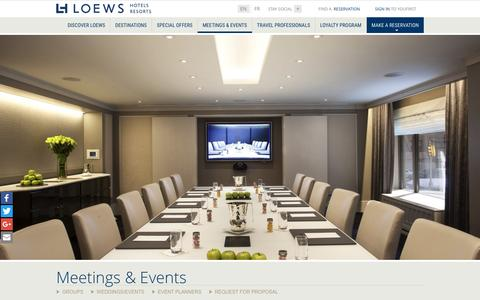 Corporate Conference Venues | Loews Hotel and Resorts
