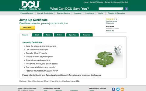 Jump-Up Certificate | DCU | Massachusetts | New Hampshire