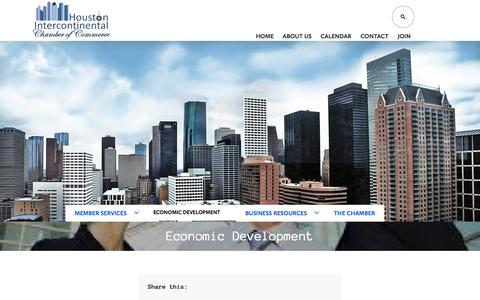 Screenshot of Developers Page houstonicc.org - Economic Development   Located Locally, Internationally focused - captured Nov. 2, 2014