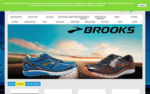 Screenshot of Home Page deportesmoya.es - Deportes Moya - Deportes Moya - captured Feb. 10, 2016