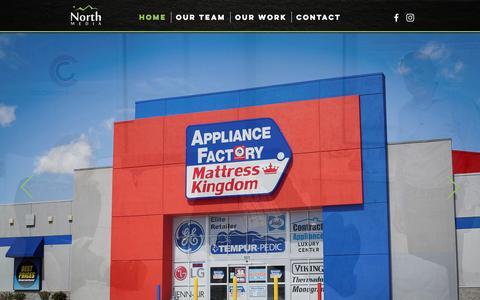 Screenshot of Home Page northmedia.net - North Media | Premier Denver Advertising Agency - captured Aug. 15, 2016