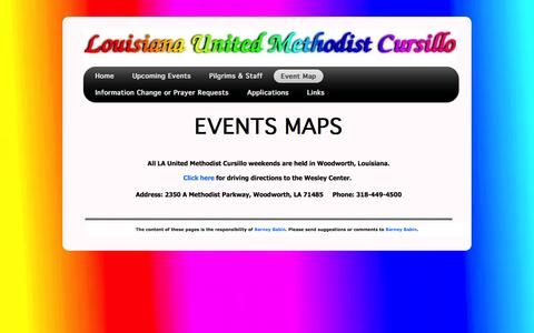 Screenshot of Maps & Directions Page laumcursillo.org - Cursillo Map and Directions Page - captured June 24, 2016