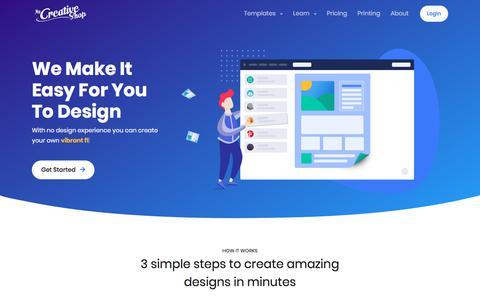 Screenshot of Home Page mycreativeshop.com - MyCreativeShop: Easily Create Awesome Brochures, Flyers & More - captured July 9, 2019