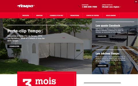 Screenshot of Home Page abristempo.com - Abris Tempo - Accueil - captured Oct. 4, 2014