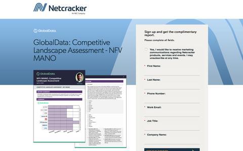 Screenshot of Landing Page netcracker.com - GlobalData: Competitive Landscape Assessment - NFV MANO - captured Oct. 5, 2019
