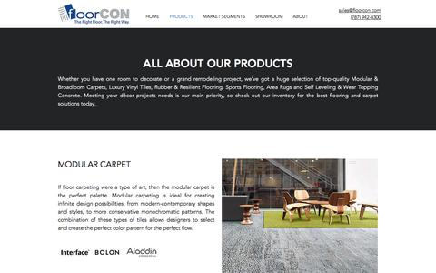 Screenshot of Products Page floorcon.com - Products | FloorCON | Puerto Rico - captured Aug. 18, 2018