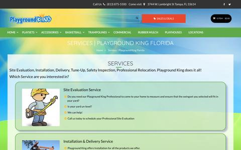 Screenshot of Services Page playgroundking.com - Services | Playground King Florida - captured May 1, 2017