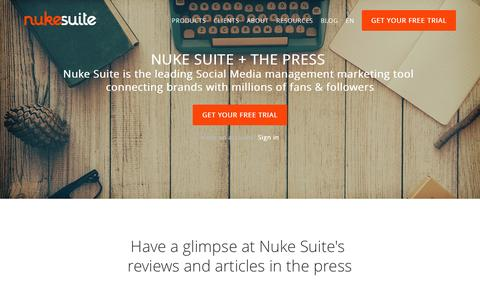 Screenshot of Press Page nukesuite.com - Press - Nuke Suite, A Robust Social Marketing company in Paris, Madrid, Dubai & Singapore - captured Jan. 7, 2016