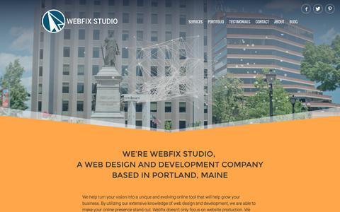 Screenshot of Home Page webfixstudio.com - Website Design and Development in Portland, Maine - captured Dec. 12, 2016