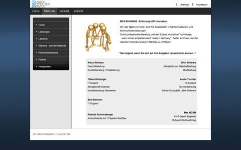 Screenshot of Team Page mcs-schwarz.de - Team - captured June 11, 2016