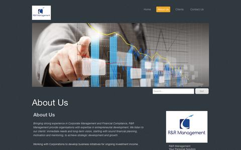 Screenshot of About Page rrmanagement.com.au - About Us - RRM provides a range of Executive Services and Professional Resources - captured May 25, 2017