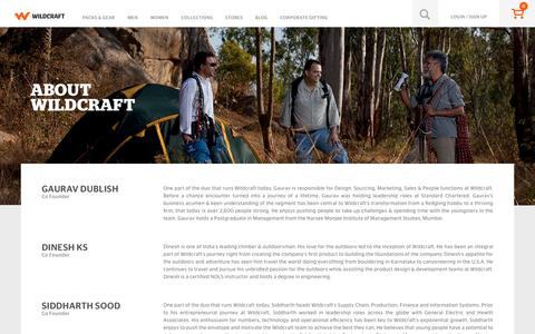 Screenshot of About Page wildcraft.in - About Us - captured Dec. 2, 2016