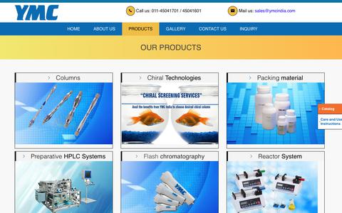 Screenshot of Products Page ymcindia.com - YMC - captured Sept. 21, 2017