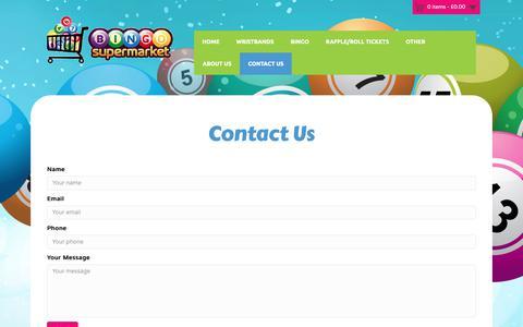 Screenshot of Contact Page bingosupermarket.com - Contact Us - Bingo Supermarket - captured Oct. 5, 2018