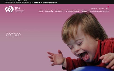 Screenshot of Home Page psicomotricidad.com - EIPS - Escuela Internacional de Psicomotricidad - captured Oct. 14, 2016