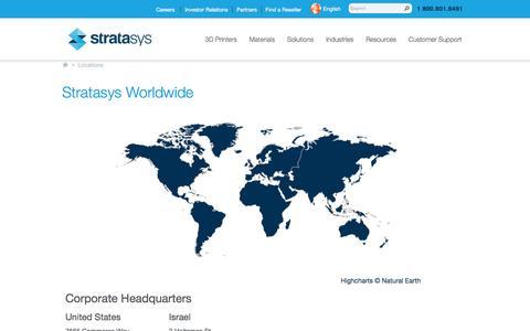 Locations | Stratasys