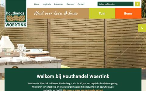 Screenshot of Home Page houthandelwoertink.nl - Home - - captured July 23, 2018