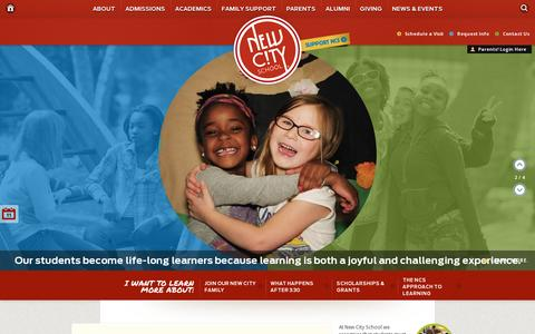 Screenshot of Home Page newcityschool.org - New City School - captured July 11, 2014