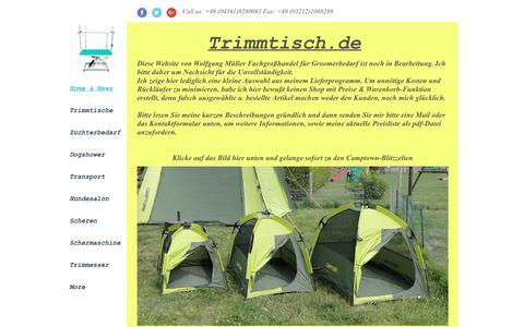 Screenshot of Press Page trimmtisch.de - Trimmtisch.de, camptown.de, Hundezüchterbedarf - captured June 27, 2018