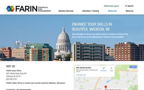 Screenshot of Maps & Directions Page farin.com - Visit Us - Farin - captured Nov. 25, 2016