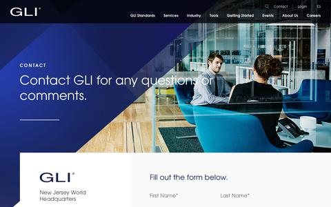 Screenshot of Contact Page gaminglabs.com - Contact - Gaming Labs International - captured Dec. 13, 2018