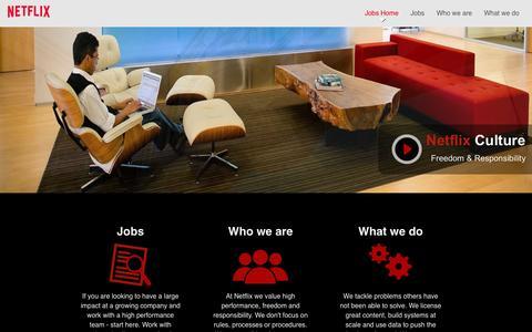 Screenshot of Jobs Page netflix.com - Netflix - captured Sept. 16, 2014
