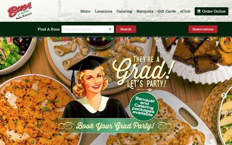 Screenshot of Home Page bucadibeppo.com - Buca di Beppo Italian Restaurant | Family Style Dining | Catering - captured June 2, 2017