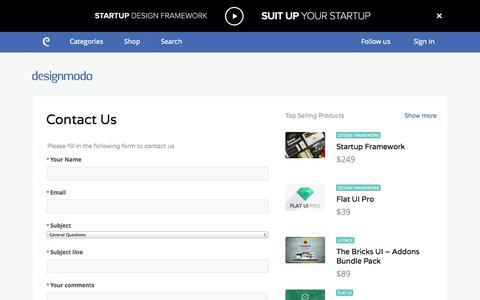 Screenshot of Contact Page designmodo.com - Contact Us - Designmodo - captured Sept. 19, 2014