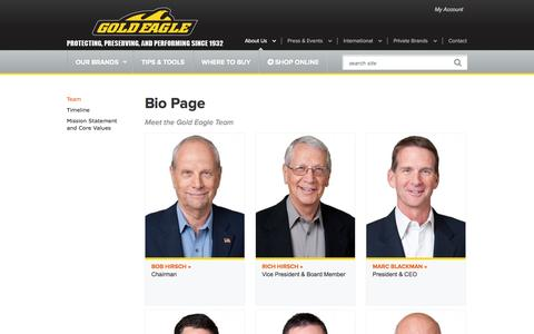 Screenshot of Team Page goldeagle.com - Bio Page | Gold Eagle - captured Sept. 19, 2014