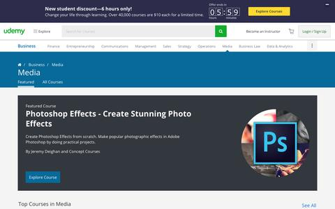 Screenshot of Press Page udemy.com - Digital Media and Publishing: Books, Music, Videos, and More - captured Aug. 20, 2017