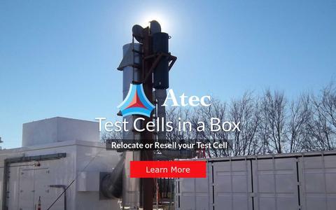 Screenshot of Home Page atec.com - Atec   - captured Feb. 6, 2016