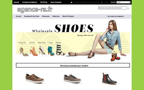Screenshot of Home Page agence-ra.fr - Populaires chaussures de marque du Frank Wright,Diesel,Caterpillar,Barker - captured Oct. 18, 2017