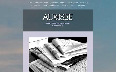 Screenshot of Press Page audisee.com - Press — Audisee - captured Sept. 30, 2014