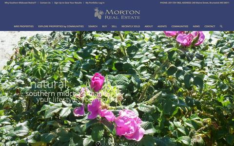 Screenshot of Home Page mainere.com - Brunswick Maine Real Estate for Sale| Harpswell ME Real Estate for Sale| Southern Midcoast Maine Realtors|Morton Real Estate - captured Feb. 14, 2016