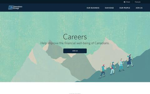 Screenshot of Jobs Page investorsgroup.com - Careers | Investors Group - captured Oct. 15, 2017