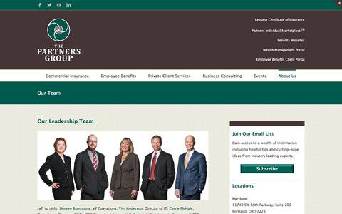 Screenshot of Team Page tpgrp.com - Our Team - The Partners Group - captured March 22, 2018