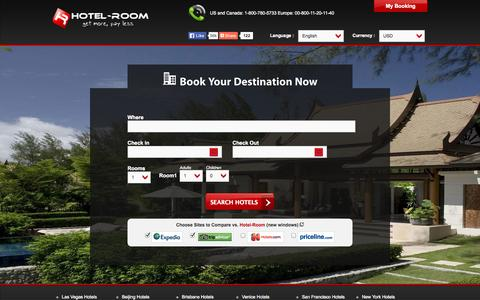 Screenshot of Home Page hotel-room.com - Hotel-Room - Find Hotel Deals, Cheap Rooms & Discount Rates - captured Oct. 3, 2014