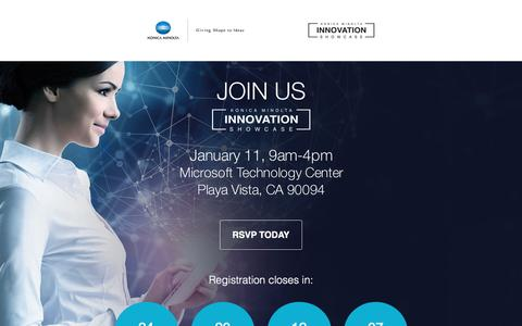Screenshot of Landing Page konicaminolta.us - Konica Minolta Business Solutions - captured Dec. 17, 2016