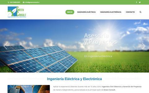 Screenshot of Home Page greenconsult.cl - GreenConsult – Ingeniería Electrónica y eléctrica - captured Nov. 15, 2016
