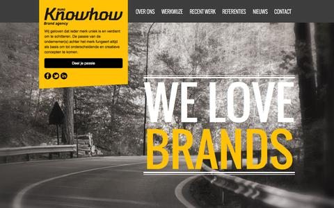 Screenshot of Home Page buroknowhow.nl - Buro Knowhow - Building Brands - captured Sept. 18, 2015