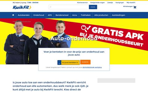 Auto-onderhoud voor de Laagste Prijs? Plan online! | KwikFit