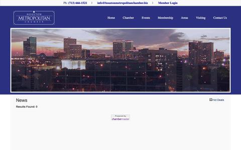 Screenshot of Press Page houstonmetropolitanchamber.biz - News - Houston Metropolitan Chamber of Commerce - captured Feb. 1, 2016
