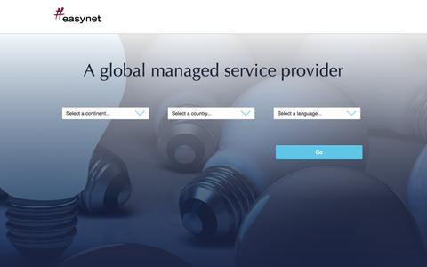 Screenshot of Home Page mdnx.com - Easynet - Easynet Global - captured Sept. 23, 2014